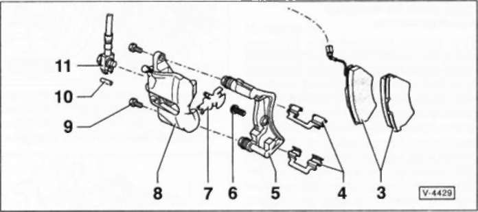 3 — тормозные колодки 4